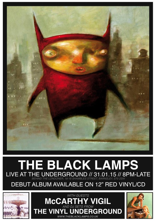 The Black Lamps Album Launch Poster